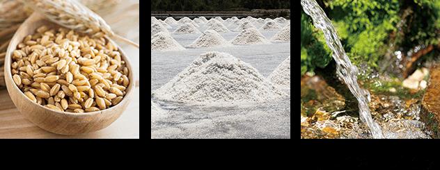 イメージ写真:天日塩と自然湧水