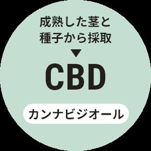 成熟した茎と種子から採取→CBD カンナビジオール